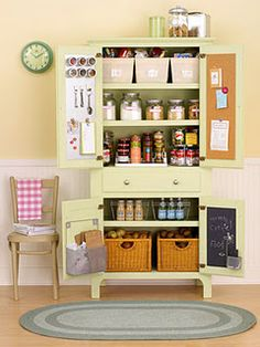 Cute Kitchen Storage, this would be perfect for all my baking & entertaining supplies