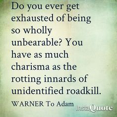 WARNER quote love this