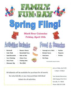 school spring fling flyer template - Google Search