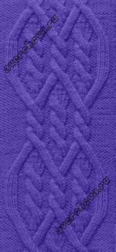 Cable pattern: 36 stitches, 52 row repeat - узор 775