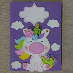 Unicorn Birthday, Unicorn Party, Foam Crafts, Paper Crafts, Diy Crafts For Kids, Arts And Crafts, Diy Notebook Cover, Baby Record Book, Birthday Charts