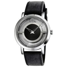 Movado Museum Translucent Black Dial Black Rubber Men's Watch 0606567 - Museum - Movado - Shop Watches by Brand - Jomashop