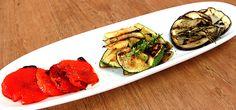Antipasti in drei köstlichen Variationen: Paprika, Zucchini und Auberginen