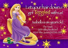 Tangled Invitation Printable Birthday Party by MaddieRoseDesignz