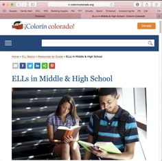 """From Website: """"This section includes a number of resources focused on English Language Learners (ELLs) in middle and high school. Topics include reading instruction for older students, content instruction, social and emotional issues, and college readiness."""""""