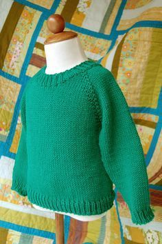 South Street Pullover. Two versions of the knitting pattern - one for babies 6 to 24 months, one for kids ages 4 to 12. Knit with Spud & Chloe Sweater yarn.