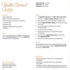 Tupperware Recipe: Vanilla Caramel Fudge