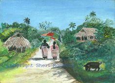 Art by Sheri, Vava'u, Tonga. Tonga, Tropical, South Pacific, Island, Painting, Painting Art, Islands, Paintings, Painted Canvas