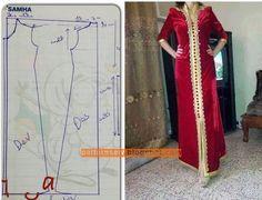 Iahel Alexander's media content and analytics Abaya Fashion, Muslim Fashion, Clothing Patterns, Dress Patterns, Girls Kurti, Abaya Pattern, Mode Abaya, Kaftan Abaya, Arabic Dress