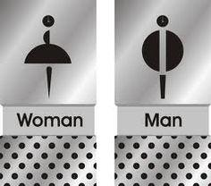 xx-xy #signage #toilet Toilet Logo, Toilet Signage, Bathroom Signage, Wc Sign, Bath Sign, Funny Toilet Signs, Navigation Design, Hotel Logo, Exterior Signage