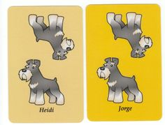 PLAYING CARDS SWAP CARDs, dogs cute as can be schnauzer | eBay