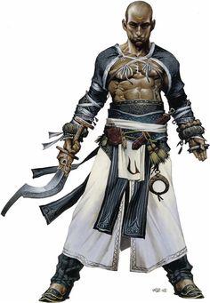 Monk / Far East character.
