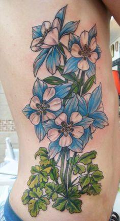 columbine flower tattoo - Google Search