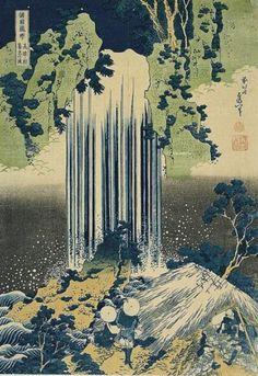 Hokusai, The Falls of Yoro, Province of Mino, c. 1827