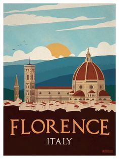 Vintage Florence Poster by IdeaStorm Media ideastorm.bigcart… Vintage Florence Poster by IdeaStorm Media ideastorm. Vintage Travel Posters, Vintage Postcards, Old Poster, City Poster, Tourism Poster, Kunst Poster, Vintage Art, Vintage Italian, Vintage Gifts