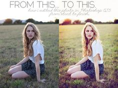 Photoshop Tutorial – how to edit a photo from start to finish.