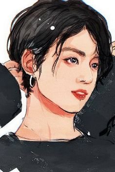 Jungkook Fanart, Kpop Fanart, Bts Jungkook, Foto Bts, Kpop Drawings, Amazing Drawings, Realistic Drawings, Instagram Artist, Bts Chibi