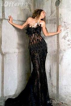 Elegant gothic wedding gowns | Home Gt Bridal Elegant Black Strapless Gothic Wedding Dress