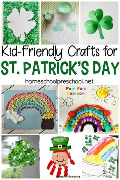 Preschoolers love crafting, and these St Patricks Day kid crafts will make great handmade holiday gifts and decorations. Check out all 21 ideas! #homeschoolprek #preschool #easykidcrafts #stpatricksdaycrafts #leprechauncrafts https://homeschoolpreschool.net/st-patricks-day-kid-crafts/ #kidscrafts