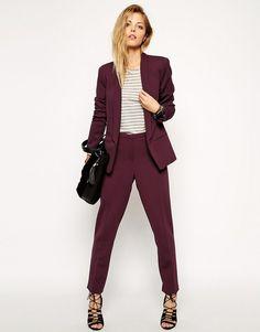Бордовый пиджак (34 фото): с чем носить