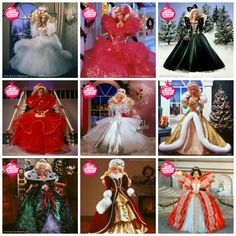 25 years of the holiday Barbie doll #HolidayBarbie I have all of them in boxes