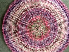 Pink and lave star round rug by gramsheart on Etsy, $40.00. Sold