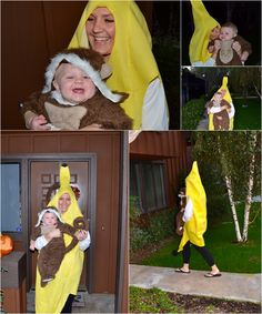 The Monkey and His Banana - Mother/Son Halloween Costume