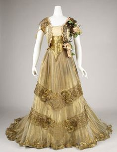 Dress (Ball Gown)  Date ca. 1900 Silk, metallic thread, glass Gift of Alice Roosevelt Longworth, 1976