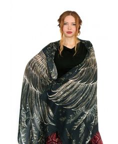 18022893f7eee 9 Best Shawls wings images | Scarf wrap, Bird wings, Cotton scarves