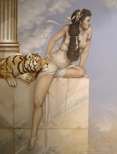 Danae, by Michael Parkes, Array featured at Marcus Ashley Gallery.