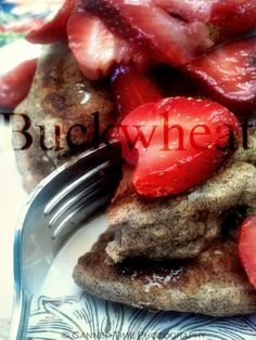 Vegan Buckwheat Pancakes with Strawberry Syrup from Canned-Time.com