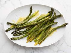 Roasted Asparagus with Lemon Vinaigrette Recipe : Melissa d'Arabian : Food Network - FoodNetwork.com