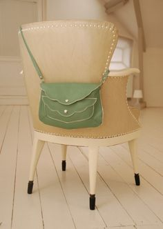 mint green purse