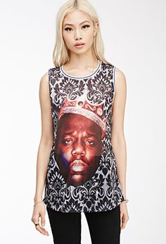 Notorious B.I.G. Baroque Print Jersey Tank | FOREVER21 - 2000136609