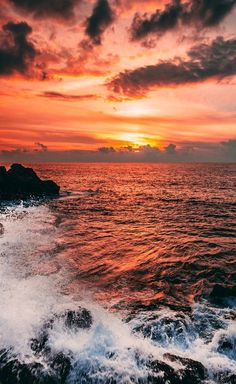 aesthetic landscape sunset backgrounds background iphone wallpapers nature ocean sky strand