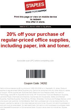 Staples 20 off online coupon code