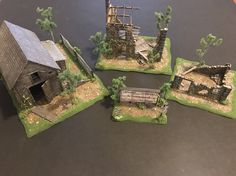 Bolt Action Miniatures, Wargaming Table, Chain Of Command, 40k Terrain, War Hammer, Crossfire, Table Games, Diy And Crafts, Eye Candy