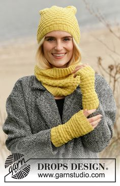 Free knitting patterns and crochet patterns by DROPS Design Drops Design, Knitting Gauge, Hand Knitting, Wrist Warmers, Hand Warmers, Laine Drops, Drops Baby, Magazine Drops, How To Purl Knit