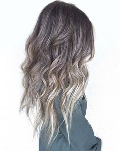 Images of ash blonde hair balayage - Ash Brown Hair Balayage, Ash Brown Hair Color, Hair Color Balayage, Ash Brown Ombre, Ashy Brown Hair, Balayage Straight, Brown Hair Silver Ombre, Ash Blonde Hair Silver, Brown Hair With Ash Blonde Highlights