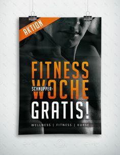 Fitness Schnupperwoche Gratis - Plakat, P-FP-0073   Sport & Fitness   Plakate   Werbeprodukte   Despri