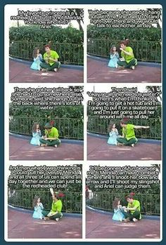 Peter Pan talking about uniteing the red heads of disney.