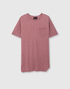 Pull&Bear - hombre - novedades - camiseta cortes laterales - rosa dela - 09237545-I2016