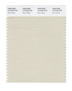 Pantone Smart Swatch 12-0105 Bone White. Not so sure about this for a Cool Summer. It looks slightly yellow, but this color is suppose to have grey in it.