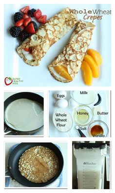 Whole Wheat Crepes - This whole wheat recipe is the one you'll want to save for the next time you make them! http://www.superhealthykids.com/whole-wheat-crepes/