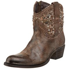 FRYE Women's Deborah Studded Ankle Boot, Grey, 5.5 M US -- This is an Amazon Affiliate link. Learn more by visiting the image link.