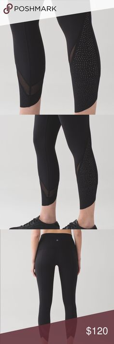Lululemon Limited edition laser cut leggings Never worn but all tags off limited edition lululemon wunder under high rise laser cut leggings 🚫trades lululemon athletica Pants Leggings