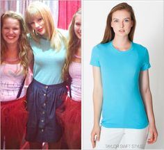 GET THE LOOK: American Apparel 'Fine Jersey T in Turquoise' - $18.00
