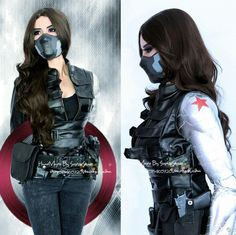 Hot New Marvel The Avengers Captain America 2 Winter Soldier Woman Cosplay Costume Vest Customize