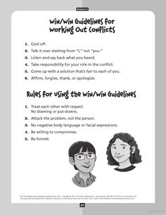 """Conflict Resolution - Looks like """"Let's Talk"""" in Tribes OR Peer Mediation format"""