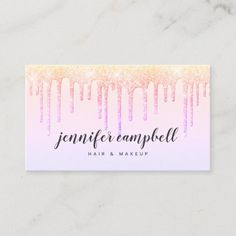 Holographic makeup hair pastel pink glitter drips business card Beauty Business Cards, Salon Business Cards, Hairstylist Business Cards, Makeup Artist Business Cards, Elegant Business Cards, Business Card Size, Business Card Design, Business Supplies, Pastel Hair